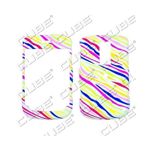 Blackberry BOLD 9000   Colorful Pink Zebra Skin on White   Hard Case/Cover/Faceplate/Snap On/Housing