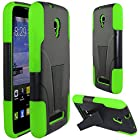 Alcatel One Touch Pop star LTE Case, Starshop Straight Talk Alcatel One Touch Pop star LTE A845L Prepaid Smartphone Premium Durable Rugged Shell Hybrid Protective Phone Case Cover with Built in Kickstand Green
