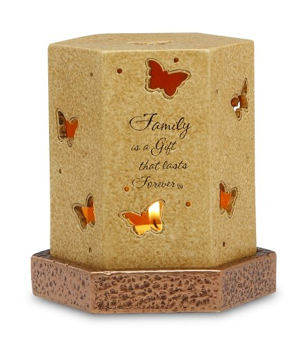 Comfort Candles Family Is A Gift By Pavilion 6-1/4-Inch Tall Candle Holder Including Base And Tea Light Candle
