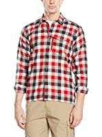 Salewa Camisa Hombre Therma Pl M L/S Srt (Rojo / Blanco / Antracita)