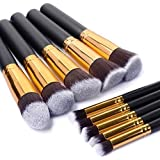 10 PCS Premium Synthetic Silky Makeup Brushes Set Makeup Tools Professional Makeup Brushes Face Powder Brush Makeup...