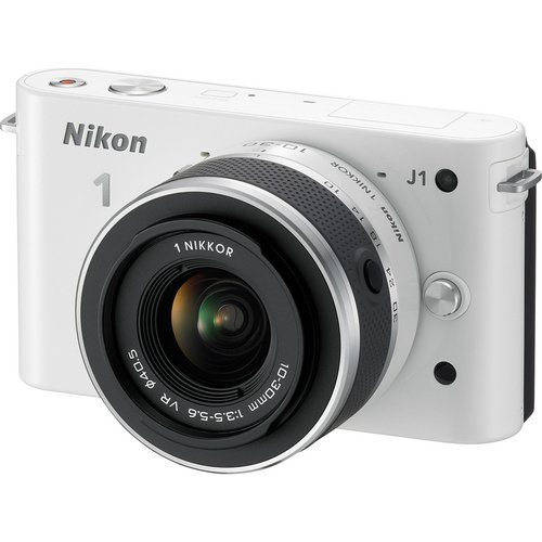 Nikon 1 J1 - 27565 - 10.1 MP HD Digital Camera System with 10-30mm f/3.5-5.6 VR NIKKOR Zoom Lens (White)
