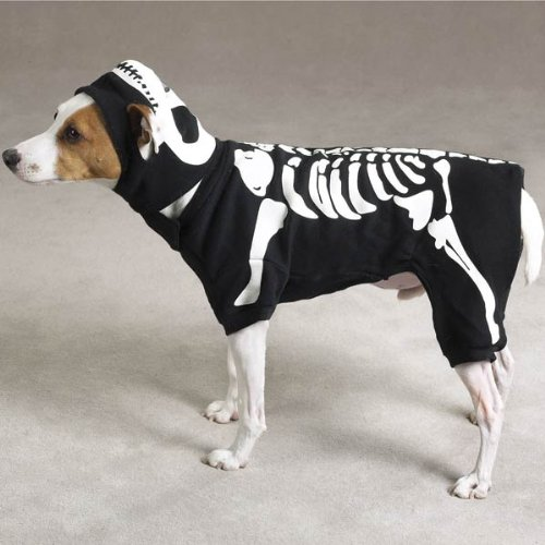 LARGE - GLOWING BONEY DOG - Pet Halloween Costume