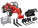 Bruder 02126 Manitou Telescopic Loader MLT 633 with Accessories
