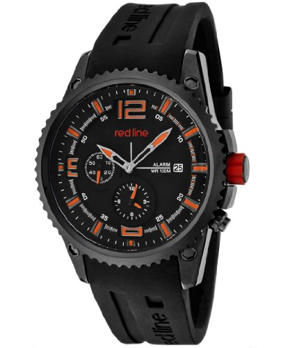 red line Men's 50031YM-BB-01OR Boost Black Dial Black Silicone Watch (Red Line Orange Dial Watch compare prices)
