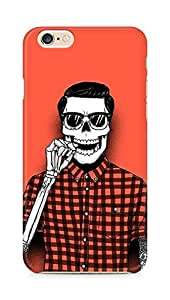 Amez designer printed 3d premium high quality back case cover for Apple iPhone 6 (Hipster Skull)