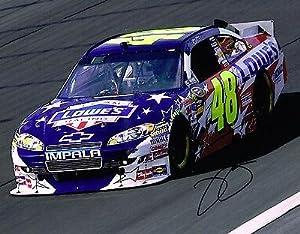 Jimmie Johnson Autographed Picture - 11X14 COA - Autographed NASCAR Photos by Sports Memorabilia