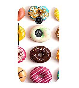 EPICCASE doughnut Mobile Back Case Cover For Moto E 2nd Generation (Designer Case)