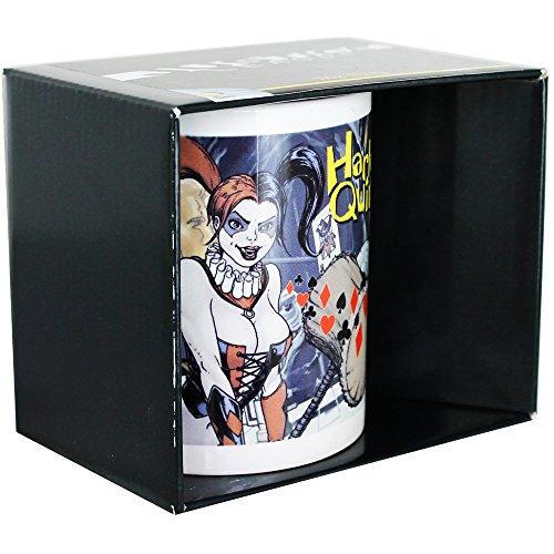 """Dela Justice League """"numero Harley Quinn 2,54 cm tazza di ceramica, multicolori"""