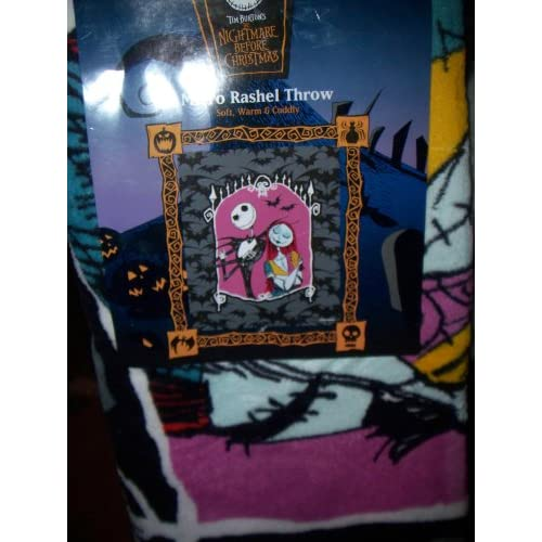 Amazon.com - Nightmare Before Christmas Jack and Sally Throw Blanket -