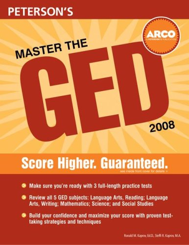 Master The Ged 2008 (Peterson'S Master The Ged)
