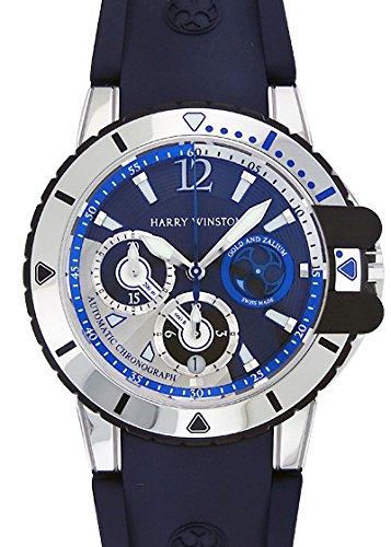 [ハリー ウィンストン]HARRY WINSTON 腕時計 OCEACH44WZ005 オーシャン ダイバー ザリウム&WG 青&シルバー文字盤 自動巻き ラバー メンズ [並行輸入品]