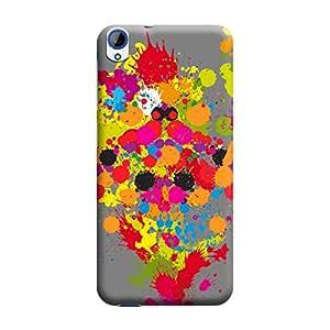BUZZWORLD HTC 820 Multicolor Art 3D Printed Mobile Back Case Cover (Matte) (Multicolor)