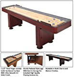 FamilyPoolFun 14 Foot Shuffleboard Table - Dark Cherry