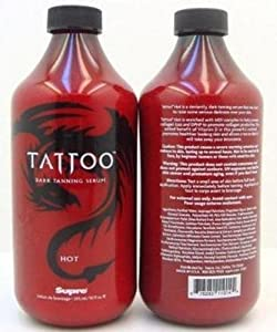 Supre tattoo hot tanning lotion serum for Tattoo tanning lotion