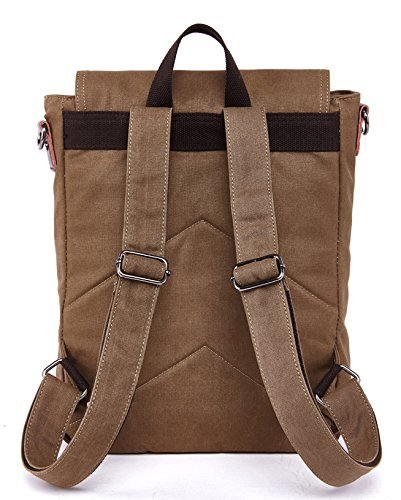 Kenox Vintage High School Canvas Backpack School Bag Travel Bag Laptop Bag 2
