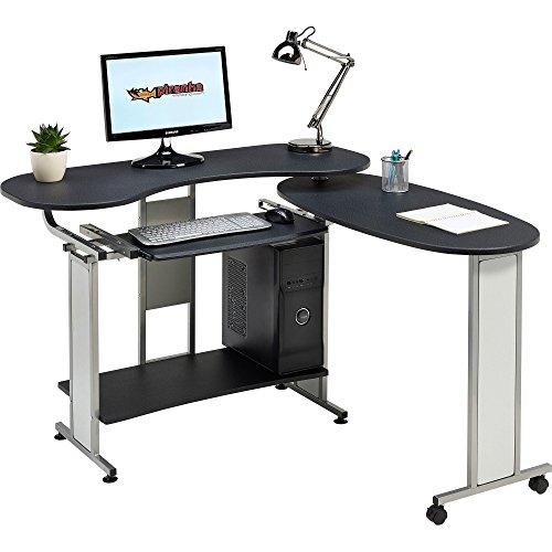 Piranha Ausklappbarer Computertisch mit Tastaturauszug in grafitschwarz PC 3g