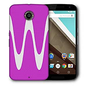 Snoogg Wave Forms Pink Designer Protective Phone Back Case Cover For Motorola Nexus 6