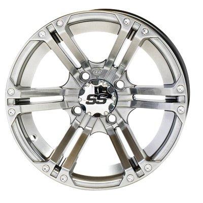 4/110 ITP SS212 Alloy Series Wheel 14x8 5.0 + 3.0 Platinum HONDA KAWASAKI SUZUKI YAMAHA