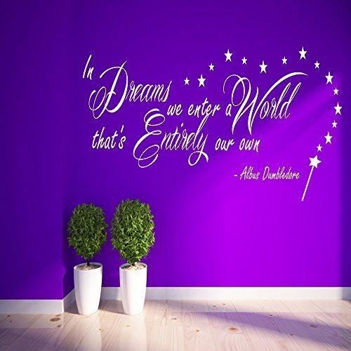Harry Potter In Dreams we inserisci Silente Adesivo Vinile Da Parete Citazione per camera da letto Arte