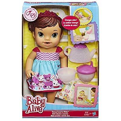 Baby Alive Lil' Sips Baby Has a Tea Party Doll (Brunette) by Hasbro