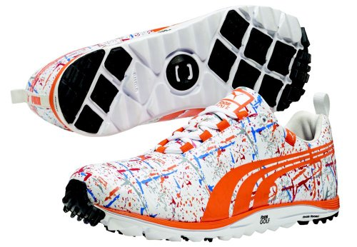 b5cbb783 New 2013 Limited Addition Mens PUMA Faas Lite Splatter Golf Shoes Size 10 M