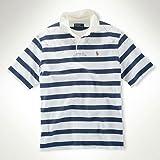 ポロラルフローレン POLO RALPH LAUREN 正規品 メンズ 半袖ラガーシャツ Classic Woven-Collar Rugby ブルー