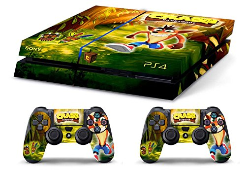 Skin PS4 CRASH BANDICOT FOREST limited edition DECAL COVER ADESIVA