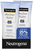 Neutrogena Ultra Sheer 45 Twin Pack