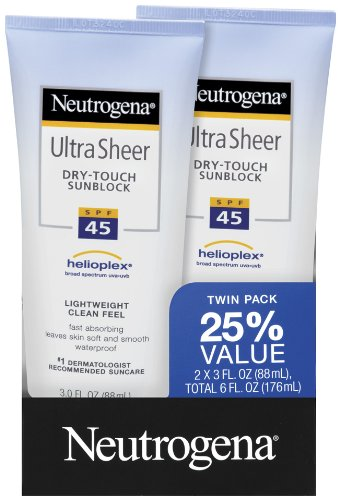 Neutrogena Ultra Sheer SPF 45 Twin Pack 3.0  Ounce