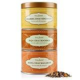 Tea Forte Loose Tea Trio - Chai Sampler- Chakra Chai Coconut, Raja Chai Rooibos, Maya Chai Macaron