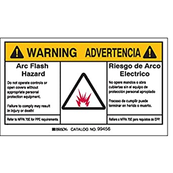 Arc flash protection label pk 5 industrial warning signs for Arc flash warning signs