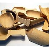"""3"""" Wood Scoops - Bag of 10"""
