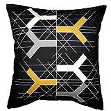 Ikea BJRNLOKA FIGUR Cushion Pillow Cover Bjornloka Figur White/black Orange 100% Cotton