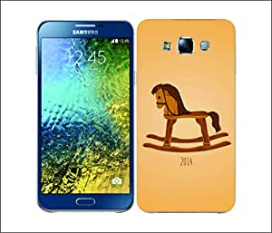 Galaxy Printed 2172 Horse Wood Hard Cover for Samsung A5