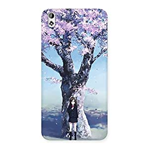 Special Cherry Blossom Girl Back Case Cover for HTC Desire 816s