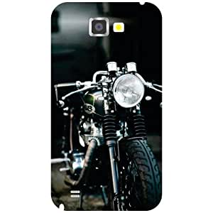 Via flowers Funky Bike Matte Finish Matte Finish Phone Cover For Samsung Galaxy Note 2