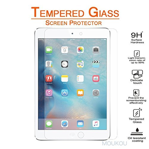 MouKou-iPad-Mini-4-Screen-Protector-Tempered-Glass-Screen-Protectors-for-iPad-Mini-4-25D-Rounded-Edges-9H-Hardness-Scratchproof-Shatterproof-Explosion-Proof-and-Easy-Installation