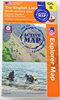 The English Lake District: South West (OS Explorer Active Map OL06 - Waterproof)