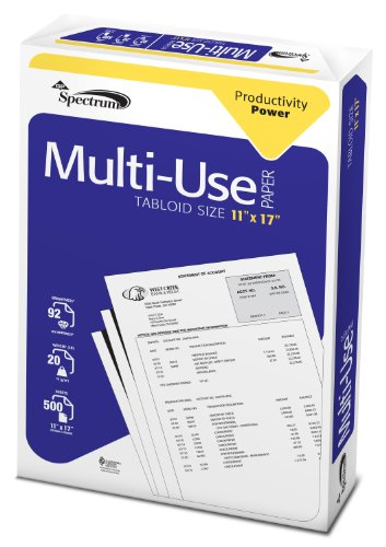 GP Spectrum MultiUse Paper, 11 x 17 Inches Ledger