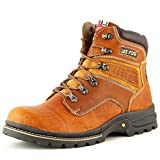 Lee Fog Mens Genuine Leather High Anklet Tan Genuine Leather Casual Boots UK 7