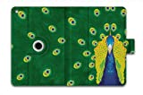 For Apple iPad Mini /Mini 2 / Mini Retina Folio Case Magnetic PU Leather Cover With Multi Smart Stand - Green Peacock am-62138