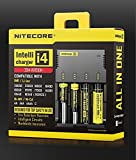 NiteCore i4 smart charger suitable for 16340 26650 18650 18350 re-chargeable Li-ion batteries