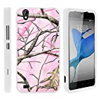 ZTE Quartz Phone Case, Perfect Fit Cell Phone Case Hard Cover with Cute Design Patterns for ZTE Quartz Z797C (Straight Talk) from MINITURTLE | Includes Clear Screen Protector and Stylus Pen - Pink Hunter Camouflage