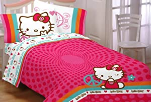 Sanrio Hello Kitty Peace Kitty Full Sheet Set at Sears.com