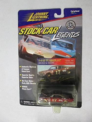 johnny-lightning-stock-car-legends-david-pearson-17-1967-ford-failane-164-by-johnny-lightning