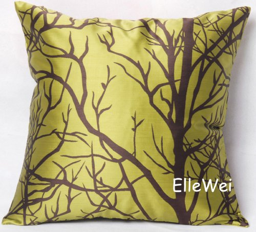 Decorative Modern Greenyellow Throw Pillow Cover
