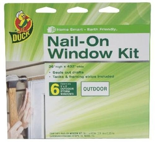 Duck Brand 1285200 6-Window Outdoor Storm Window Kit