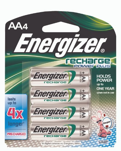 Energizer New Recharge Batteries, AA, 4Count Picture