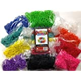 ★75% OFF★ Rubber Band Bracelets ★ 6000 Premium Rainbow Color Loom Bands ❤ 10 Beautiful Colors ❤ 8 FREE CHARMS + 250 S and C Clips! Best Value and Quality of Loom Band Available! Refill your Loom Box Organizer today!
